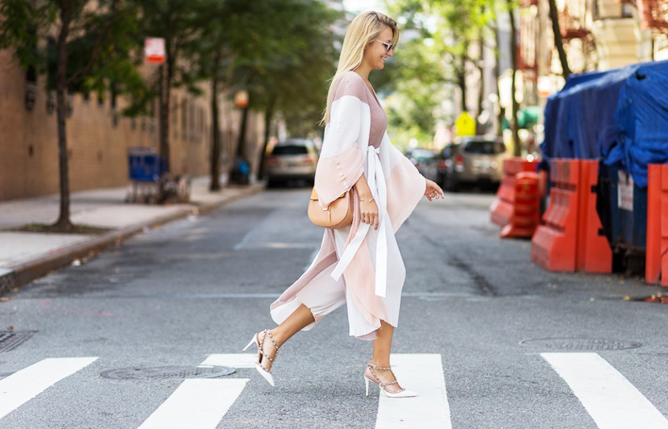 nyfw outfit street style streetstyle ootd outfit new york city chloe drew valentino heels revolve girls revolve around the world