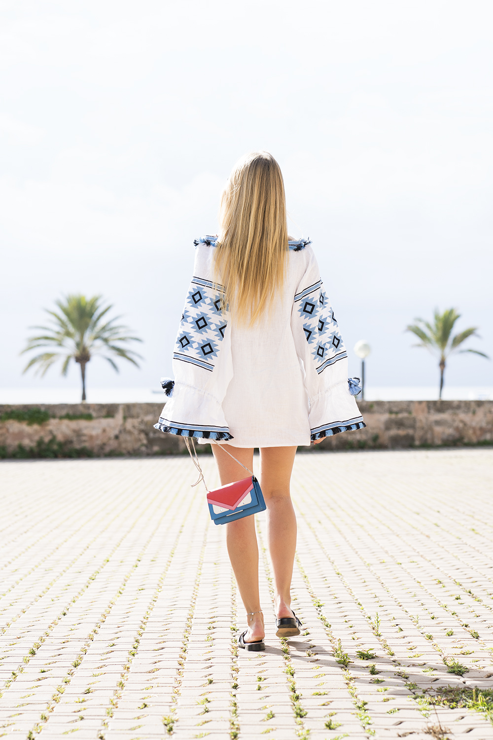netaporter_dress_boho_white_blue_vivalamoda_blog_1