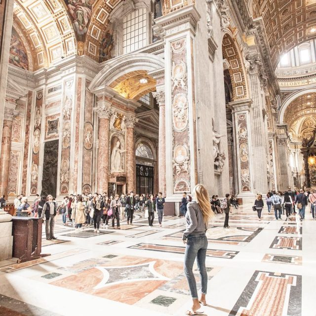 Feeling small in the St Peters Basilica in R Ohellip
