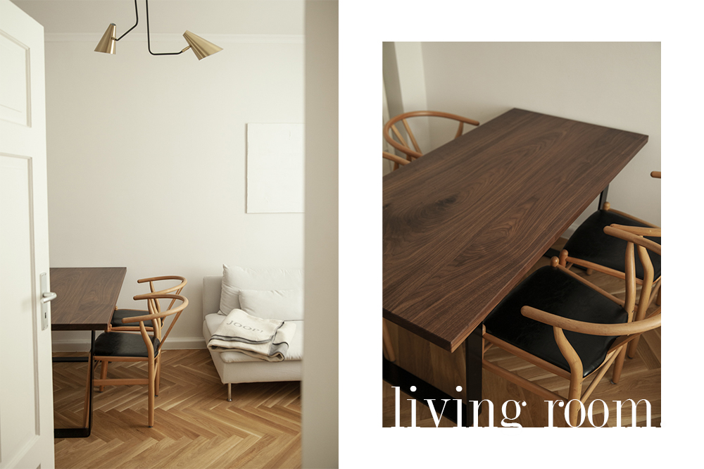our Hesbin dining table